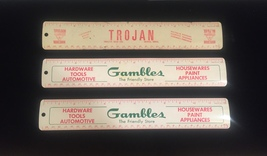 "Vintage 50s aluminum 12"" rulers - promo / giveaway (Gambles and Trojan Seed Co) image 2"
