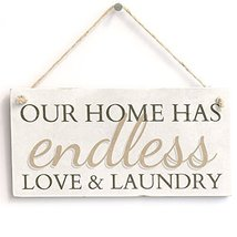 Meijiafei Our Home Has Endless Love & Laundry Home Decor Hanging Laundry... - $12.86