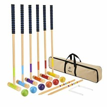 M MINGLE 35 inch Deluxe Croquet Set for Adults, Kids and Families with C... - $45.19