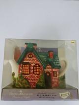 Thomas Kinkade 2005 Red Brick Cottage Teapot Removable Chimney - $9.49