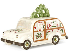 Lenox Holiday Station Wagon Cookie Jar with Santa & Christmas Tree New In Box - $45.90