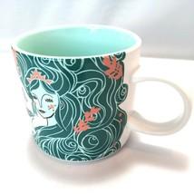 Starbucks Holiday 2018 Cup Blue Aqua Siren Mermaid Ceramic Mug 12oz EUC - $19.74