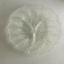 "Vintage Clear Glass Tree Branch Patterned Sectioned Plate 10""  - $14.60"