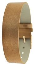 Moog Paris Copper Fabric Bracelet for Women, Moire Pattern, Pin Clasp, 1... - $41.74