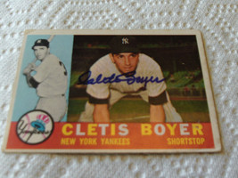 CLETIS  BOYER  HAND SIGNED  AUTOGRAPHED  1960  TOPPS  BASEBALL  # 109   ... - $19.99