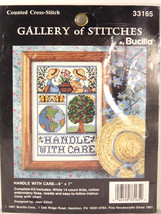 Bucilla Counted Cross Stitch Kit Handle With Care Gallery of Stitches J. Elliott - $14.84