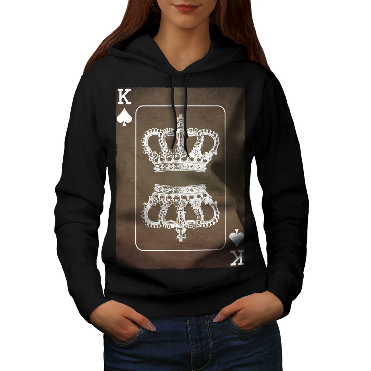 Primary image for Royal Crown Game Sweatshirt Hoody King Card Women Hoodie