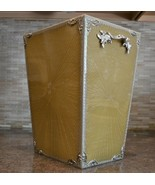 Mike and Ally Chateau Wastebasket silver accents - $295.00