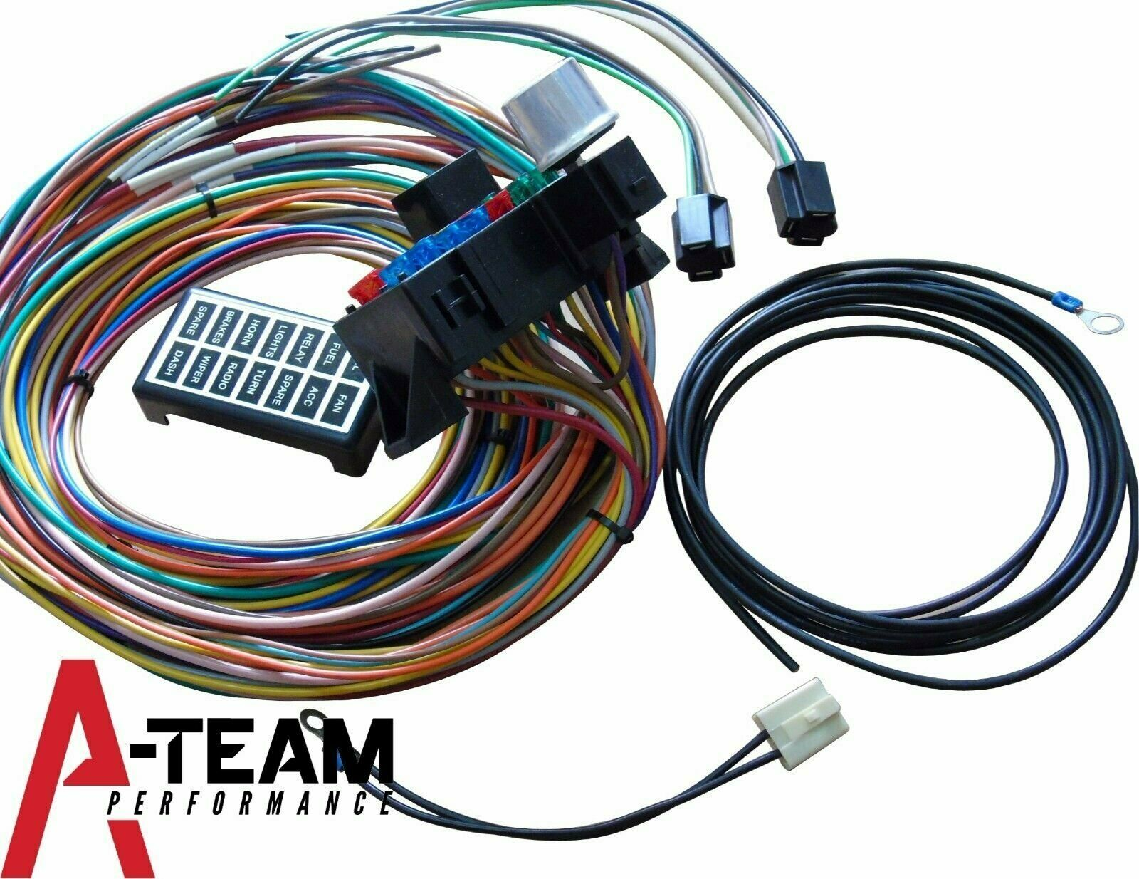 14 Circuit Basic Wire Kit Small Wiring Harness Rat Street Rod Sand Car Truck