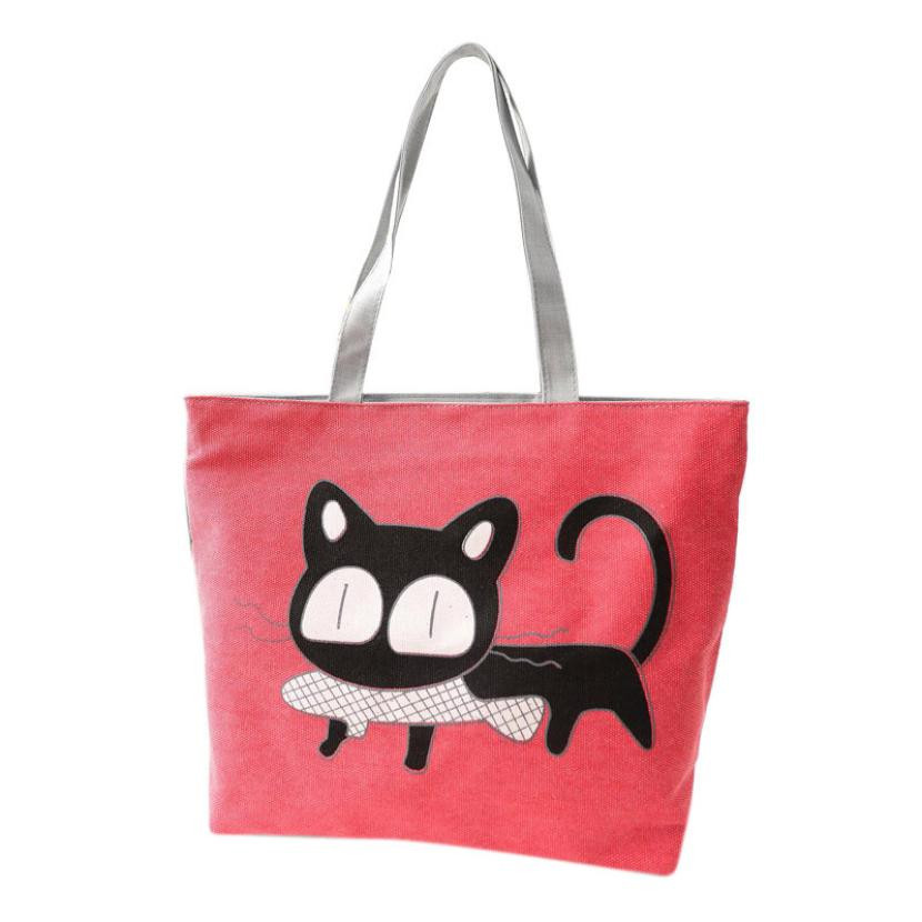 Beach bags Famous Cat Large Shoulder Tote
