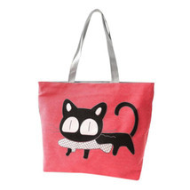 Beach bags Famous Cat Large Shoulder Tote image 1