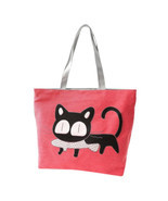Beach bags Famous Cat Large Shoulder Tote - $26.82 CAD