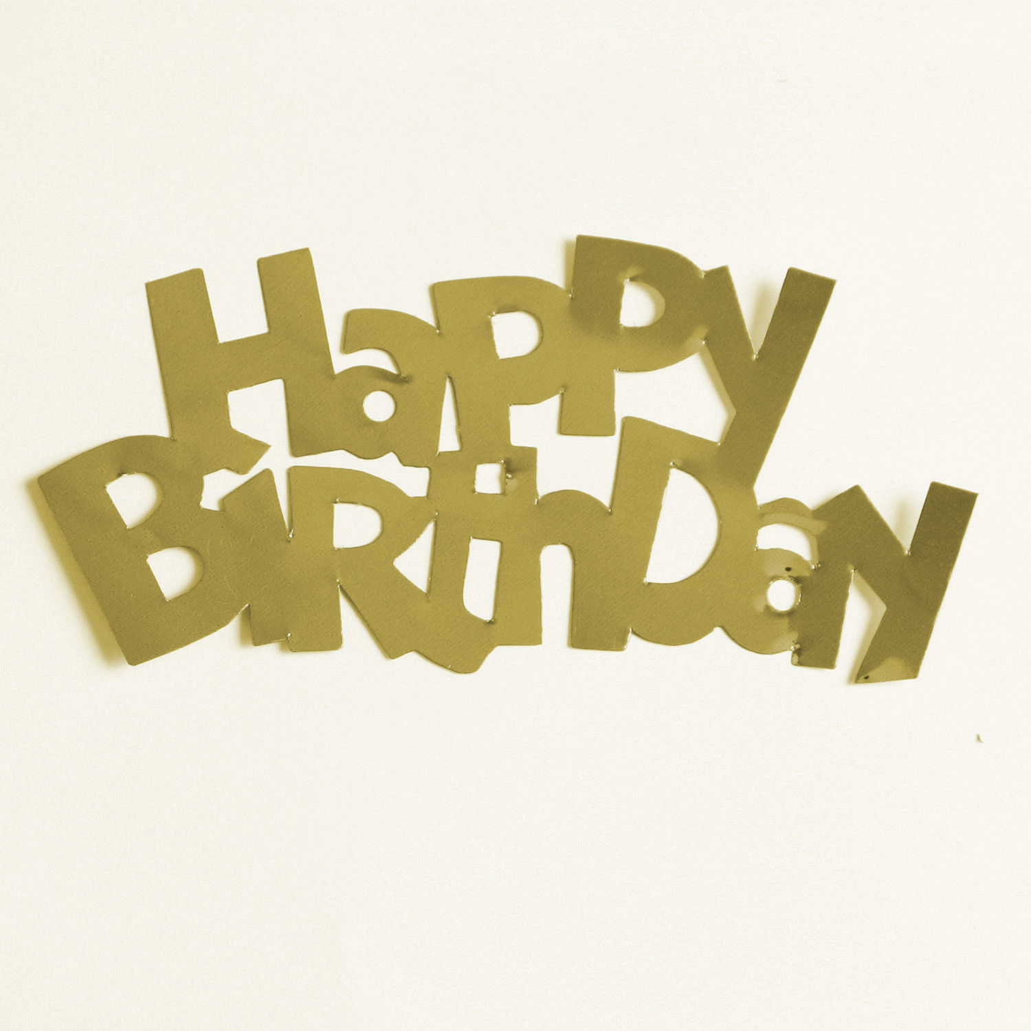 Happy Birthday Words Mylar Cut-Out Shapes Die Cut  FREE SHIPPING