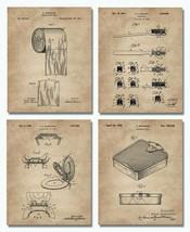 "4 Original Bathroom Patent Prints  8""x10"" Unframed Restroom Wall Art Decor - $16.95"