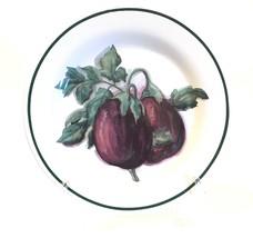 """Williams Sonoma Harvest Vegetable Purple Eggplant 8-1/2"""" Salad Plate Portugal - $24.99"""