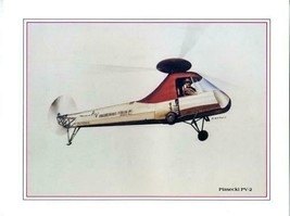 Boeing Vertol Print of Piasecki PV-2 Helicopter by S Cutuli - $21.75