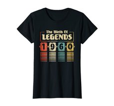 Funny Shirts - Retro The Birth Of Legend 1960 58th Birthday Gift 58 yrs old Wowe image 3