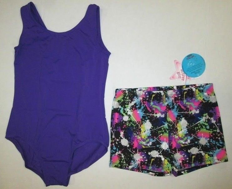 de54c1297111 New Girls Leotard Shorts Set Size LC (12-14) and 50 similar items