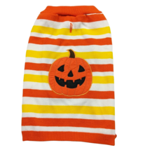 Martha Stewart Pets Halloween Dog Striped Orange Pumpkin Sweater Costume XL - $21.78