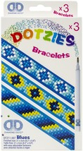 "Diamond Dotz DOTZIES Bracelets Facet Art Kit 1""X9""-Assorted Blues 3/Pkg - $15.21"