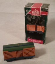 1992 Hallmark Keepsake Ornament Christmas Sky Line Collection Train Stock Car - $25.73