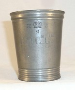 Antique Pewter Half Pint Imperial Tumbler or Measure Marked Walker & Cro... - $77.60