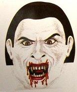 Creepy Zentai Morph BLOODY VAMPIRE MASK Horror Monster Cosplay Costume A... - $3.94
