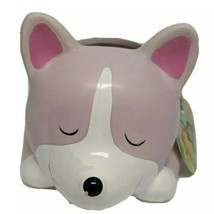 Pink and White Dog Planter Home Accessories by Isaac Jacobs NWT - $19.34