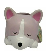 Pink and White Dog Planter Home Accessories by Isaac Jacobs NWT - $12.62