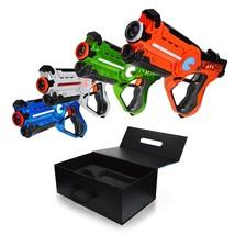 4PCS Glow In Dark Laser Tag Night Set Kit Family Yard Games Party Game S... - $180.18