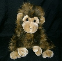 "10"" Vintage Ty Cha Cha 1998 Monkey Chimp Brown Hairy Stuffed Animal Plush Toy - $15.90"