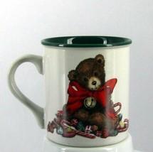 POTPOURRI PRESS 1991 CHRISTMAS COFFEE CUP/MUG SWEET TEDDY RED RIBBON CAN... - $17.99