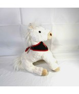 Wells Fargo Legendary Horse Stuffed Plush Toy Pony with Scarf White Boys... - $19.79