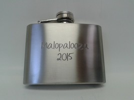 Personalized Engraved 4 oz Flask- Top Shelf Flask - $10.45