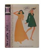 Misses Dress Long Short McCalls 3832 Vintage Pattern 1973 Size 10 Sewing... - $6.99