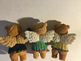 "3 Bear Angels Musical Band Instruments Resin Figurine 4"" image 2"