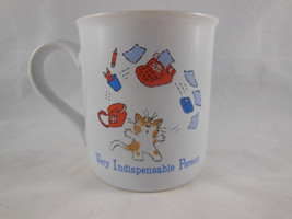 Vintage Hallmark VIP Very Indispensable Person coffee tea cat Mug Cup 1985 Gift - $8.90