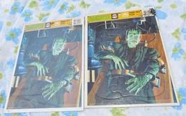 VTG 1991 LOT 2 Golden Universal Monsters FRANKENSTEIN Frame Tray Puzzles... - $27.03