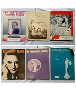 Vintage Sheet Music 1930s Assorted Lot 6 Songs - $20.70