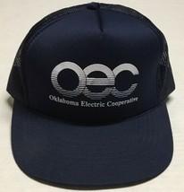 Vtg Oklahoma Electric Cooperative Trucker Hat Norman OEC Cap Energy Elec... - $17.43