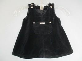 Velvet Baby Gap Girl's Size S 3-6 Months 100% Cotton Black Sleeveless Dress - $20.80