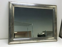 "Framed Silver Wall Mirror 23"" x 30"" Original Price $199 Rectangular Rectangle image 1"