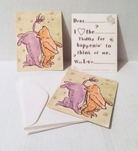 Classic Pooh Eeyore Thank You Cards Fill in Blank 6 Sets New Christoper Robin - $14.84
