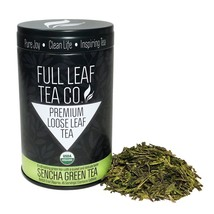 Organic Loose Leaf Sencha Green Tea 3oz / 85 g Tin - $17.95