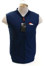 Nike Dark Blue NFL On Field Apparel Denver Broncos Zip Front Vest Men's ... - $148.49