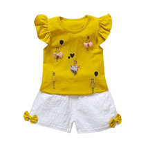 oddler Kids Suits 0 2T Baby Girl Clothes Summer Set Cotton Newborn Girls... - $10.99