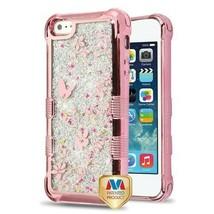 For APPLE iPhone SE/5S/5 Butterfly Flowers TUFF Glitter Lite Hybrid Case... - $13.39