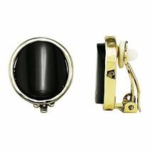Simple Fashion Acrylic Circle Black Resin Clip-on Earrings For Women Gir... - $10.89