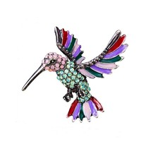 Rinhoo Jewelry Rhinestone Brooch Pin - New - Hummingbird - $19.99