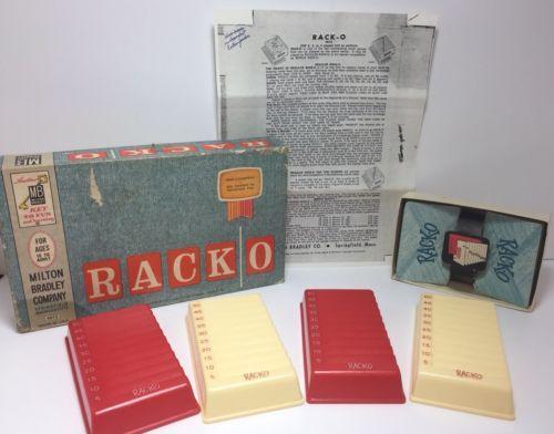 Milton Bradley Racko Game 1960s 1 Listing